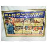 44X68 FRAMED PURINA FEEDS ADV. SIGN