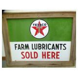30X40 PORC. FARM LUBRICANT TEXACO SIGN