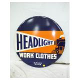 30IN EMB. HEADLIGHT WORK CLOTHS SIGN