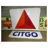 2PC. 8FT.X8FT. PORC. CITGO SIGN