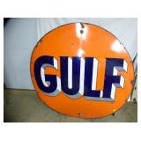 2ND VIEW SINGLE SIDE GULF SIGN PORC.