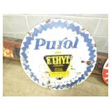 3IN PORC. PUROL ETHYL SIGN