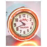 26IN GMC TRUCK NEON CLOCK