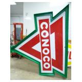 6TH VIEW PORC. CONOCO SIGN & POLE