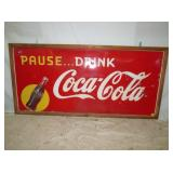35X69 COCA COLA WITH BOTTLE SIGN