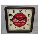 16IN COCA CLOCK W/ WOODEN FRAME