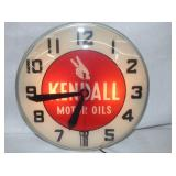 15IN KENDALL MOTOR OIL CLOCK
