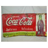 22X41 UNUSUAL COKE SIGN