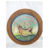 20IN WOODEN BULL MEAT SAUAGE SIGN