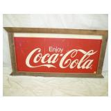 30X63 FRAMED COKE SIGN