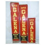 12X62 GALENA MOTOR OIL SIGN