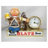 EARLY BLATZ CLOCK BEER DISPLAY