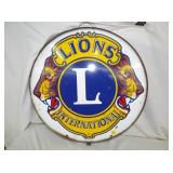 30IN PORC LIONS CLUB SIGN