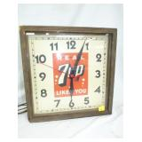 16IN 7UP WOOD FRAMED CLOCK