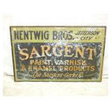 30X48 SARGENT PAINT METAL SIGN