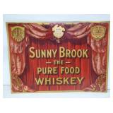 11X15 SUNNY BROOK WHISKEY SIGN