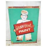 38x48 GRAY SEAL PAINT SIGN