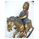 2ND VIEW FRONT HORSE & CHILD BRONZE