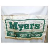 48IN MYERS PUMP BANNER SIGN