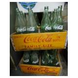 COCA COLA 1L CARRIERS W/ BOTTLES
