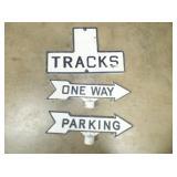 METAL TRACK & STREET SIGN