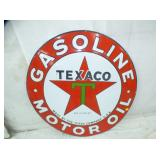 42IN PORC TEXACO SIGN