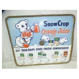 26X31 MASONITE SNOW CROP SIGN
