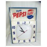 14X19 EMB PEPSI CLOCK