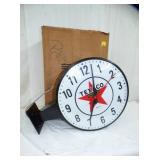 17IN TEXACO FLANGE CLOCK
