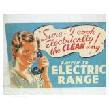 25X39 ELECTRIC RANGE CARDBOARD
