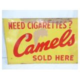 14X22 EMB CAMELS TIN SIGN