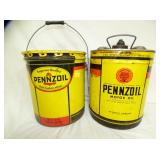 5G. PENNZOIL MOTOR OIL CANS