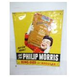 12X14 EMB. PHILIP MORRIS SIGN W/ JOHNNY