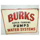 17X23 EMB. BURKS PUMPS TURBINE SIGN