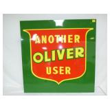 34X34 EMB. OLIVER USED SIGN