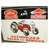 2ND VIEW CLOSEUP FORD TRACTOR DEALER SIGN