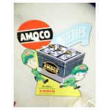 21X24 REPLICA AMOCO BATTERIES SIGN