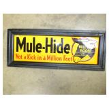 11X26 EMB. MULE HIDE SIGN