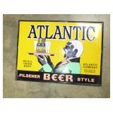 17X23 EMB. ATLANTC BEER SIGN