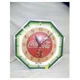 COCA COLA OCTAGON NEON CLOCK