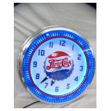 2ND VIEW CLOSEUP PEPSI SPINNER CLOCK