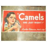 30X58 CAMEL CIG. CANVAS SIGN