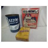 BAZINNI NUTS, BABY RUTH, HERSHEYS