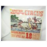 27X28 UNITED CIRCUS POSTER