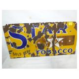 12X24 PORC. STAR TOBACCO SIGN