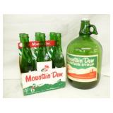 MT. DEW CARRIER W/ BOTTLES, 1G. JUG