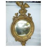 18X35 GOLD GILDED EAGLE MIRROR