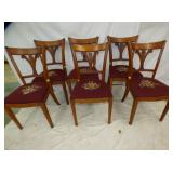 6 MATCHING NEEDLE POINT CHAIRS