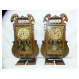 2 MATCHING SETH THOMAS HARP CLOCKS