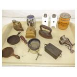 MINI CAST IRON BANKS & OTHER